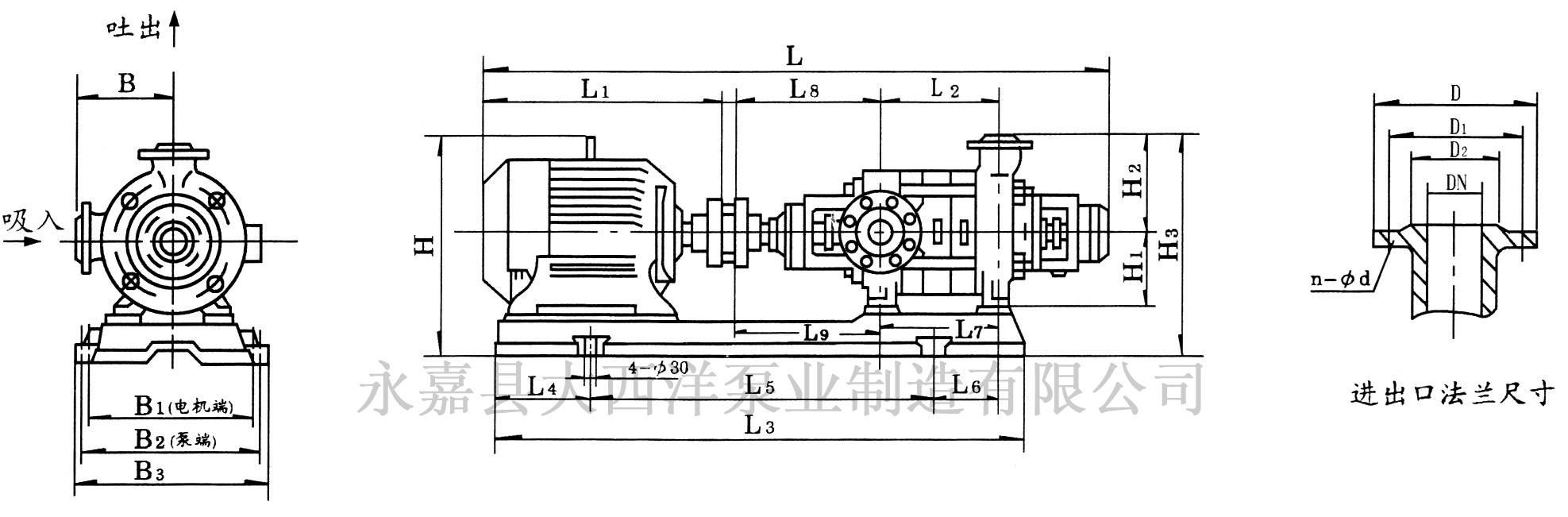 TSWA矿用多级泵结构示意图