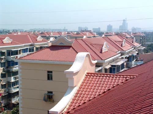 佛山合成树脂瓦 1050宽型红色合成别墅屋面瓦